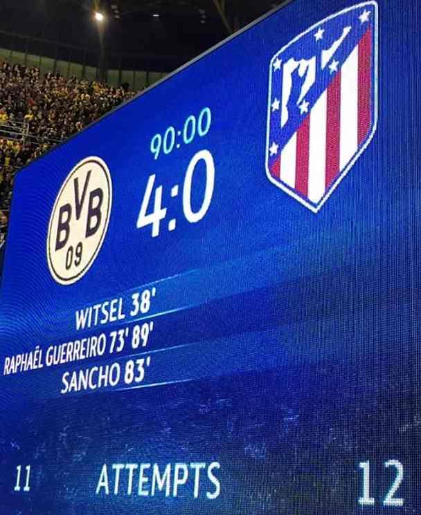 Borussia Dortmund gegen Atlético Madrid (4:0)