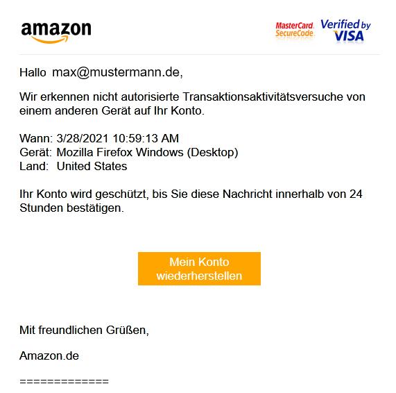 Eine nicht von Amazon versendete Nachricht.